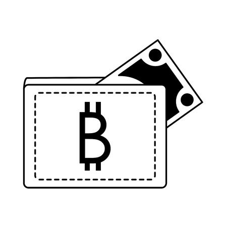 Bitcoin wallet symbol vector illustration graphic design Illustration