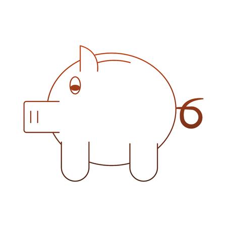 Piggy savings symbol vector illustration graphic design Standard-Bild - 111964410