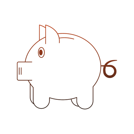 Piggy savings symbol vector illustration graphic design Standard-Bild - 111964479