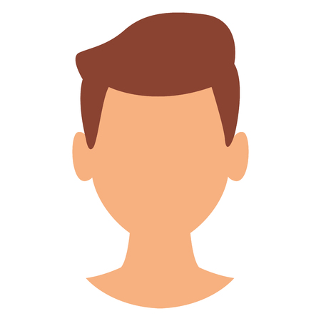 Man faceless head vector illustration graphic design vector illustration graphic design Illustration
