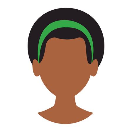 Mujer cabeza sin rostro ilustración vectorial diseño gráfico ilustración vectorial diseño gráfico Ilustración de vector
