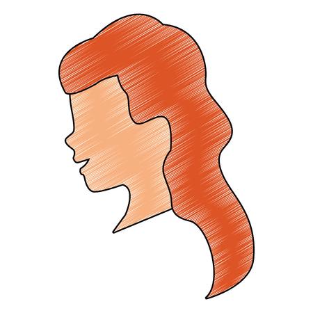 Femme tête sans visage vector illustration graphisme Vecteurs