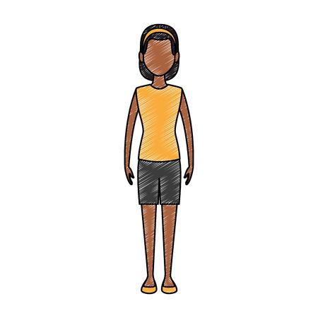 Jeune femme avatar vector illustration graphisme