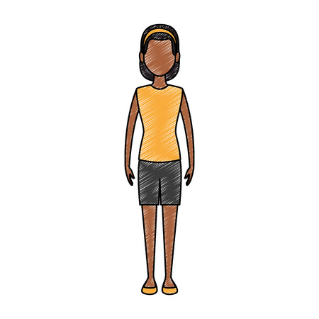 Young woman avatar vector illustration graphic design