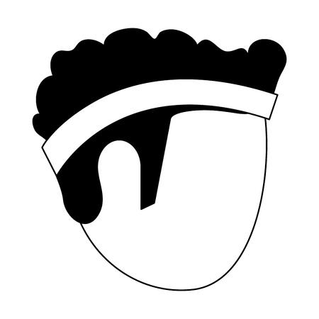 Man head faceless with sport headband vector illustration graphic design