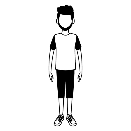 Young man cartoon avatar vector illustration graphic design