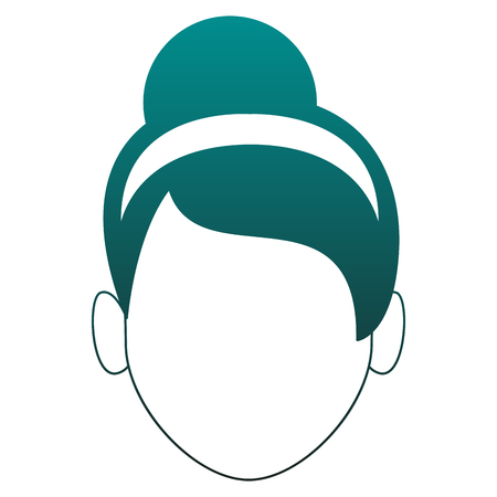 Woman faceless with headband vector illustration graphic design