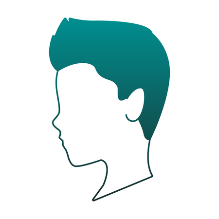 Man faceless head vector illustration graphic design Banque d'images - 111964812