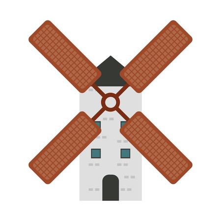 Windmill farm isolated vector illustration graphic design Reklamní fotografie - 111842509