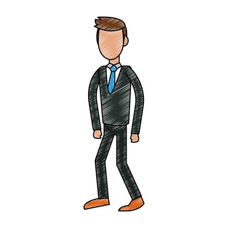 Executive businessman avatar vector illustration graphic design