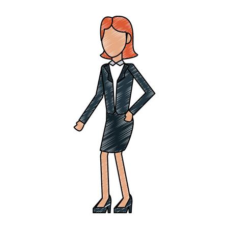 Executive businesswoman avatar vector illustration graphic design