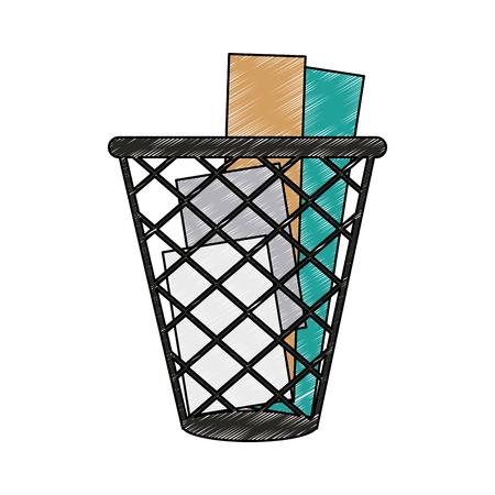 Paper bin isolated vector illustration graphic design Archivio Fotografico - 111842683