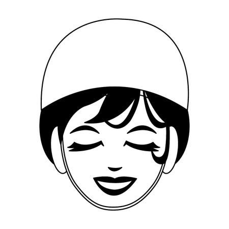 Woman face with spa mask vector illustration graphic design