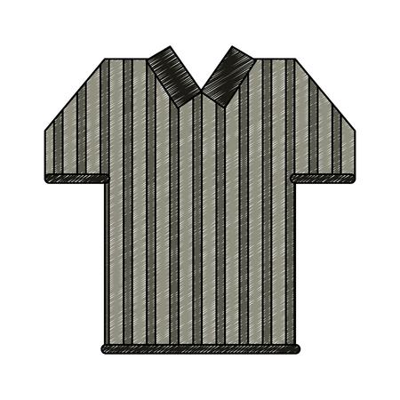 Referee tshirt isolated vector illustration graphic design