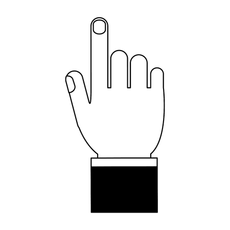 Hand finger up vector illustration graphic design Stock Illustratie