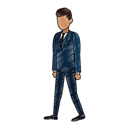 Businessman avatar cartoon vector illustration graphic design