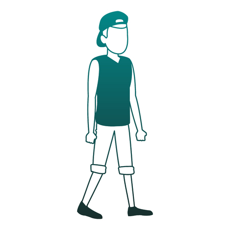 Young man faceless avatar vector illustration graphic design