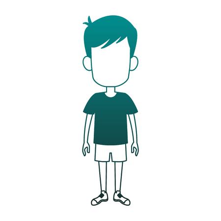 Boy faceless cartoon vector illustration graphic design 일러스트