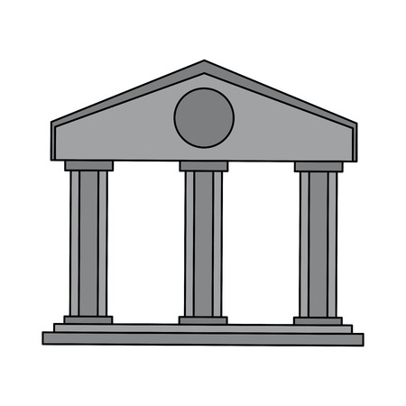 Bank building symbol vector illustration graphic design Stock Illustratie