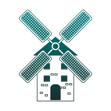 Windmill farm isolated vector illustration graphic design Reklamní fotografie - 111554733