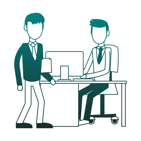Businessmens working at office vector illustration graphic design