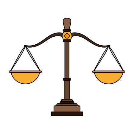 Justice balance symbol vector illustration graphic design