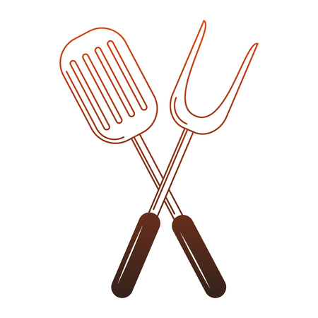 Kitchen utensil symbol vector illustration graphic design Illustration