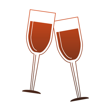 Champagne glass cups vector illustration graphic design