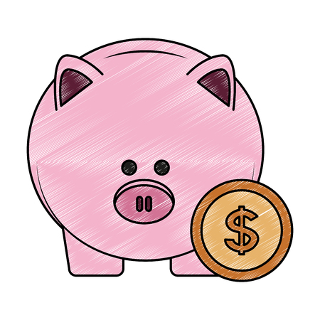 Piggy savings symbol vector illustration graphic design