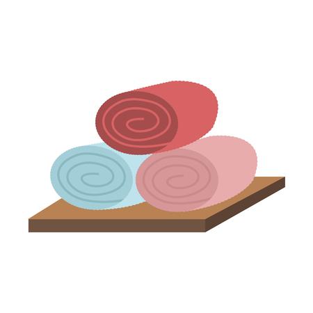 Spa towels on desk vector illustration graphic design Foto de archivo - 111519701