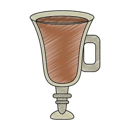 Chocolate milk glass cup vector illustration graphic design Illustration