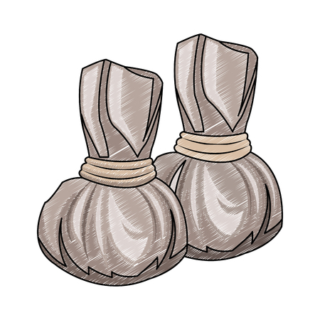 Spa heatig bags vector illustration graphic design