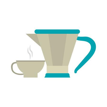 Café et thé bouilloire vector illustration graphisme