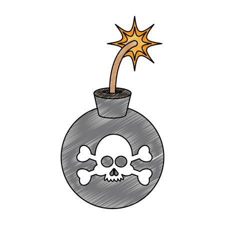 Round bomb symbol vector illustration graphic design Illustration
