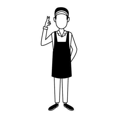Barista man cartoon vector illustration graphic design