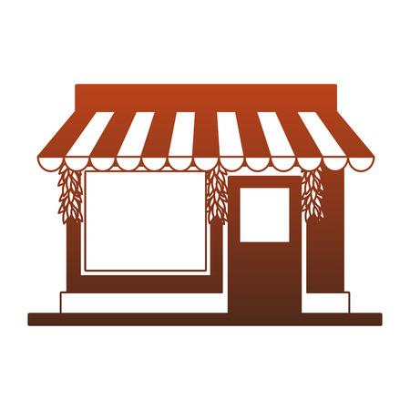 Store shop building vector illustration graphic design Vectores