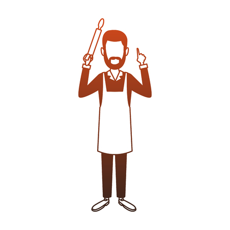 Chef man avatar vector illustration graphic design