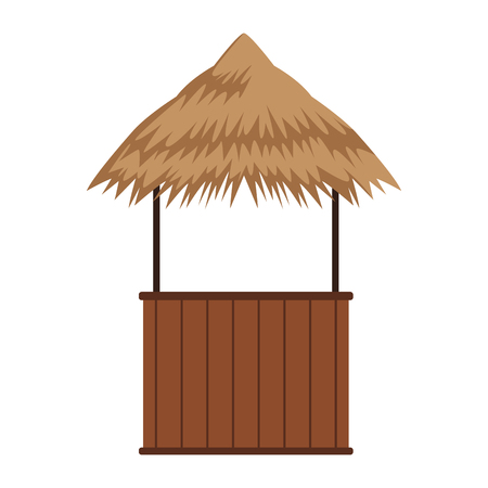 Beack kiosk stand vector illustration graphic design