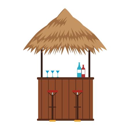 Bar beach kiosk vector illustration graphic design
