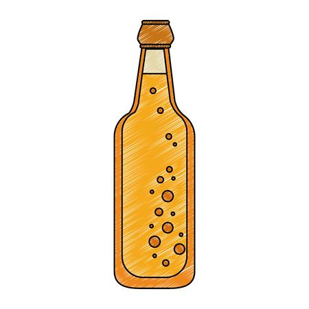 Beer glass bottle vector illustration graphic design
