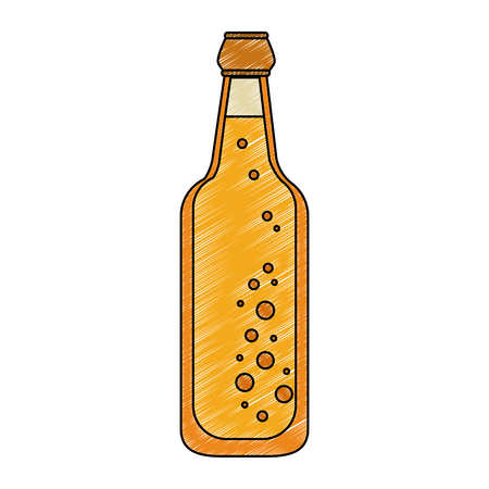 Beer glass bottle vector illustration graphic design