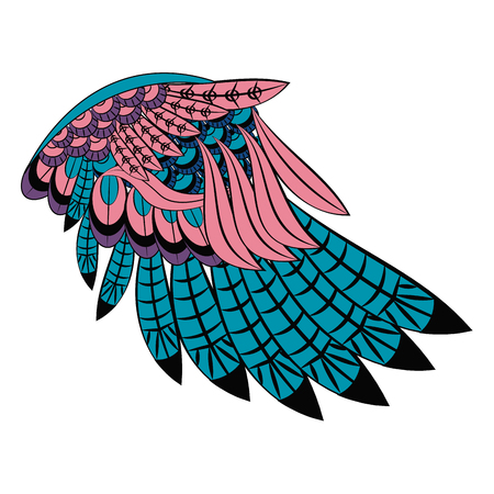 Bird wings isolated vector illustration graphic design