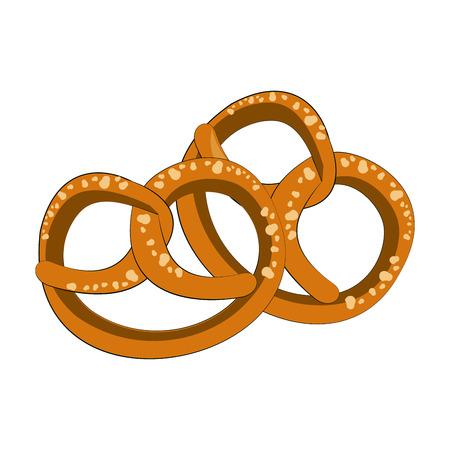 Pretzel german snack vector illustration graphic design