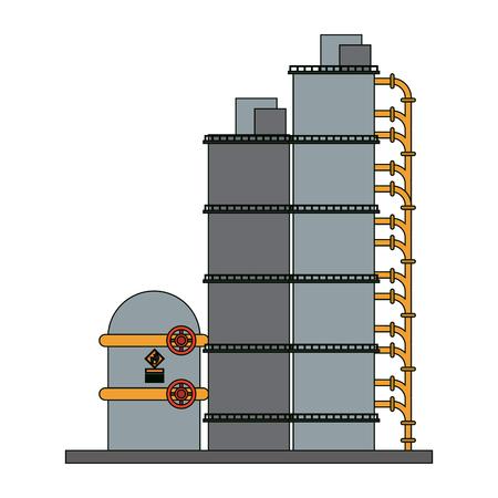 Plant industry machines vector illustration graphic design