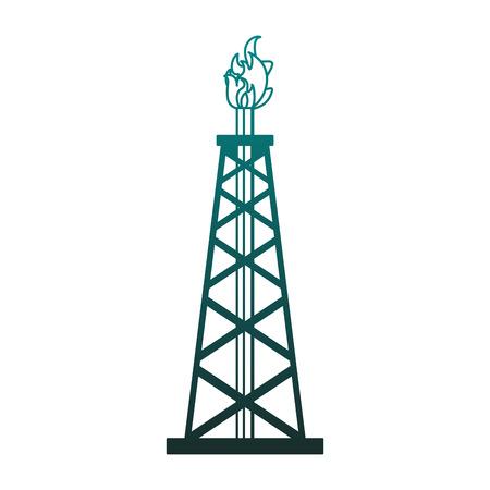 Grafikdesign der Vektorillustration der Ölpumpenmaschine