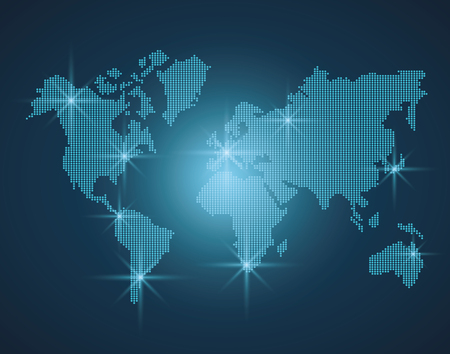 World map modern on blue colors vector illustration graphic design Illustration