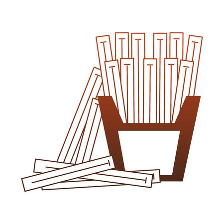 Pommes Frites im Grafikdesign der Boxvektorillustration