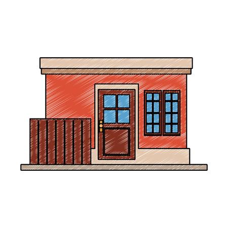 Little house building vector illustration graphic design