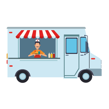 Foodtruck restaurant isolated vector illustration graphic design