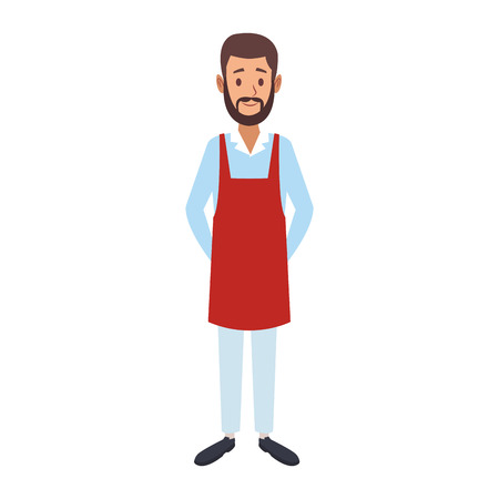 Barista man cartoon vector illustration graphic design